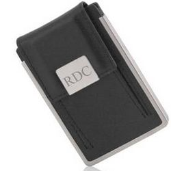 Executive Black Leather Card Case
