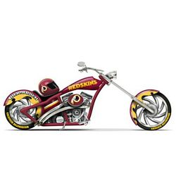 Washington Redskins Chopper with Team-Color Paint Scheme