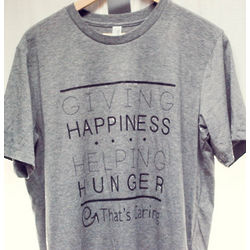 Giving Happiness, Helping Hunger Unisex T-Shirt