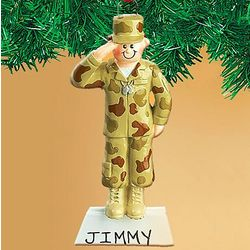 Personalized Army Ornament