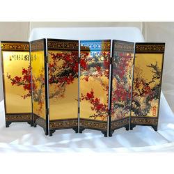 Feng Shui Tabletop Art Plum Blossom Folding Screen