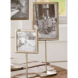 Antique Nickel Pedestal 8x10 Frame