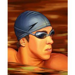 Michael Phelps Pop Art Print