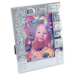 Personalized 4 x 6 Silver Plated Alphabet Frame