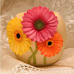 Gerbera Daisy Votive Candle Holder