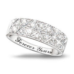 10K White Gold Diamond Radiance Ring