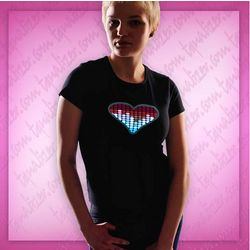Ladies Heart Equalizer T-Shirt