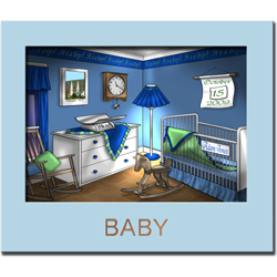 New Baby Framed Personalized Print