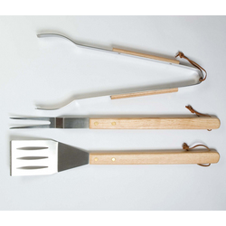 Oval Pro Chef 3 Piece BBQ Tool Set