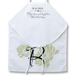 Personalized Dahlias Apron