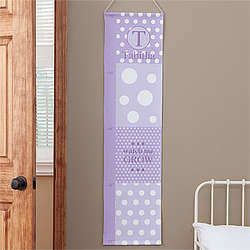 Girls Polka Dots Personalized Growth Chart