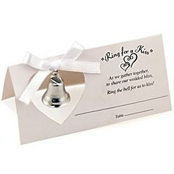 Ring for a Kiss Wedding Bell Placecards Set