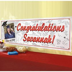 Personalized Graduation Signature Photo Banner
