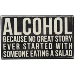 Alcohol Box Sign