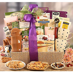 Deluxe Tea and Sweet Collection Gift Basket
