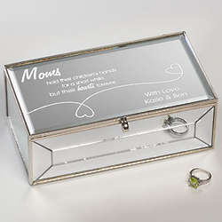 Personalized Forever in My Heart Small Mirror Jewelry Box