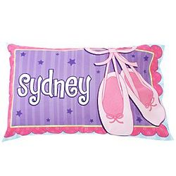 Personalized Ballet Slippers Pillowcase