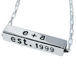 Personalized Hand-Stamped Horizontal Sterling Silver Bar Necklace