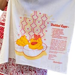 Deviled Eggs Flour Sack Towel