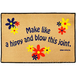 Make Like A Hippy and Blow This Joint Doormat