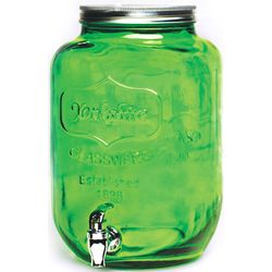 Green Twist Mason Jar Beverage Dispenser