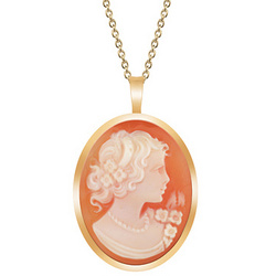 Handcrafted Cameo Pendant in 18K Yellow Gold