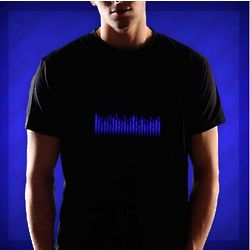 Techno Blue Equalizer T-Shirt
