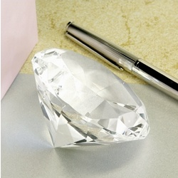 Diamond Shaped Optical Crystal Paperweight