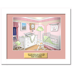 Personalized New Baby Framed Art