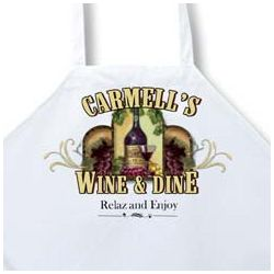 Personalized Wine Cellar Apron