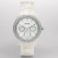 Stella Pearlized Multifunction White Dial Watch