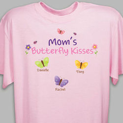 Butterfly Kisses Personalized Violet T-Shirt