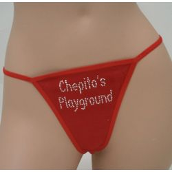 Personalized Playground Thong Underwear with Crystals