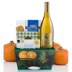 Thanksgiving Chardonnay Wine Basket