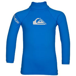 Toddler's Blue Long Sleeve Rash Guard