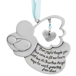 Personalized Baby Boy Guardian Angel Crib Medal