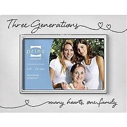 Three Generations Many Hearts Picture Frame