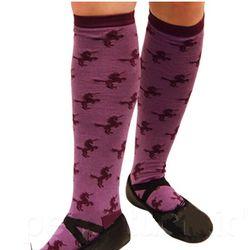 Purple Unicorn Knee Socks
