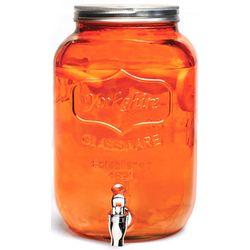 Orange Splash Mason Jar Beverage Dispenser