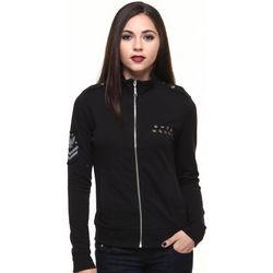 Women's Black Military Inspired Active Zip-Up Jacket
