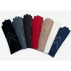 Women's Knit Lined Longer Length Spandex Glove