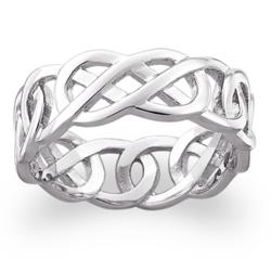Sterling Silver Celtic Knot Wedding Band
