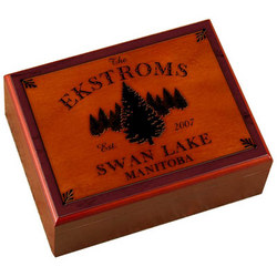 Personalized Cabin Series Spruce Design Humidor