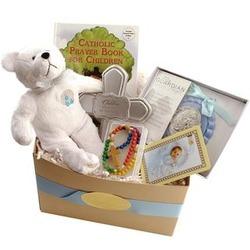 Boy's Baptism Gift Basket