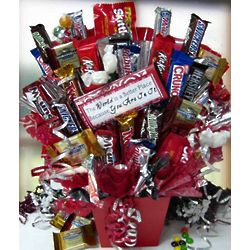 The World Is A Better Place Candy Bouquet