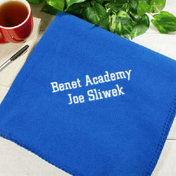 Embroidered Grad Throw Blanket