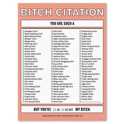 B*tch Citation Nifty Note