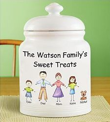 Personalized Friendly Family Characters Cookie Jar