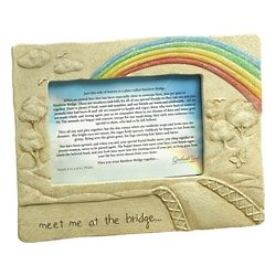 Rainbow Bridge Poem Pet Loss Frame