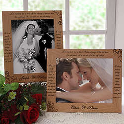 Love Is Patient Personalized Picture Frame